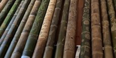 竹灯籠制作の様子
